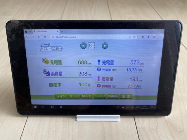 6月の売電額は13,731円